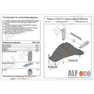 "Защита ""Alfeco"" для заднего бампера Nissan X-Trail T31 2007-2014. Артикул: ALF.15.37st"
