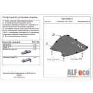 """Защита """"Alfeco"""" для картера и КПП Opel Astra G 1997-2004. Артикул: ALF.16.10st"""