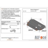 """Защита """"Alfeco"""" для картера и КПП Renault Megane II 2005-2008. Артикул: ALF.18.03st"""