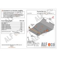"""Защита """"Alfeco"""" для картера и КПП Toyota RAV4 I 1994-2000. Артикул: ALF.24.105st"""