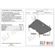 "Защита алюминиевая ""Alfeco"" для картера и КПП Lexus RX 350, 270 III 2009-2015. Артикул: ALF.24.59 AL5"