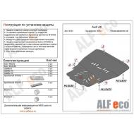 """Защита """"Alfeco"""" для картера и КПП Audi A6 C6 2005-2011. Артикул: ALF.30.03st"""