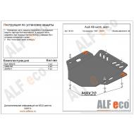 """Защита алюминиевая """"Alfeco"""" для АКПП и МКПП Audi A6 C5 1997-2004. Артикул: ALF.30.14 AL 5"""