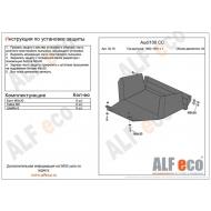"""Защита """"Alfeco"""" для картера Audi 100 C3 1982-1990. Артикул: ALF.30.18st"""