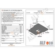 """Защита """"Alfeco"""" для картера и КПП Audi A8 D3 2003-2010. Артикул: ALF.30.28st"""