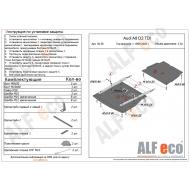 """Защита """"Alfeco"""" для картера и КПП (2 части) Audi A8 D2 1999-2002. Артикул: ALF.30.36st"""