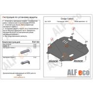 """Защита """"Alfeco"""" для картера и КПП Dodge Caliber 2007-2012. Артикул: ALF.33.05st"""