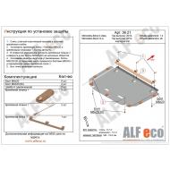 """Защита """"Alfeco"""" для картера и КПП Mercedes-Benz СLA-Class C118 2019-2020. Артикул: ALF.36.21st"""