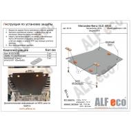 """Защита """"Alfeco"""" для КПП Mercedes-Benz GLE 400d 2018-2020. Артикул: ALF.36.23st"""