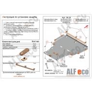 """Защита """"Alfeco"""" для картера и КПП Mercedes-Benz СLA-Class C118 2019-2020. Артикул: ALF.36.24st"""