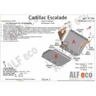 "Защита ""Alfeco"" для картера (2 части) Chevrolet Tahoe IV 2014-2020. Артикул: ALF.37.06st"