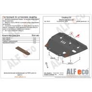 """Защита """"Alfeco"""" для картера и КПП Dongfeng H30 CROSS 2014-2018. Артикул: ALF.58.01 st"""