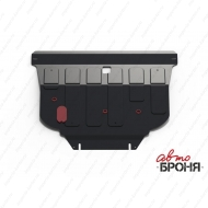 "Защита ""АвтоБРОНЯ"" для картера и КПП Nissan Primera P12 2002-2008. Артикул: 111.04128.1"