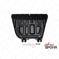 "Защита ""АвтоБРОНЯ"" для картера и КПП Hyundai Solaris II 2017-2020. Артикул: 111.02370.1"