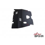 """Защита """"АвтоБРОНЯ"""" для картера и КПП Peugeot 206 2006-2013. Артикул: 111.04301.1"""