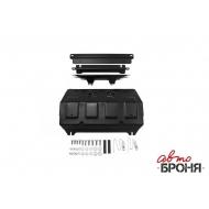 """Защита """"АвтоБРОНЯ"""" для радиатора Fiat Fullback 2016-2020. Артикул: 111.04046.1"""