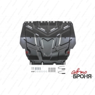 "Защита ""АвтоБРОНЯ"" для картера и КПП Ford Focus III 2011-2020. Артикул: 111.01850.1"