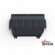 "Защита ""АвтоБРОНЯ"" для картера и КПП Ford Fiesta VI 2008-2020. Артикул: 111.01805.2"