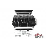 """Защита """"АвтоБРОНЯ"""" для радиатора Fiat Fullback 2016-2020. Артикул: 111.04046.2"""
