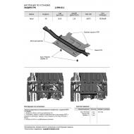 """Защита """"АвтоБРОНЯ"""" для РК Haval H9 2015-2020. Артикул: 1.09410.1"""