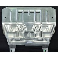 """Защита алюминиевая """"АвтоЩИТ"""" для картера двигателя и КПП Mazda 2 II 2008-2015. Артикул: 4123"""
