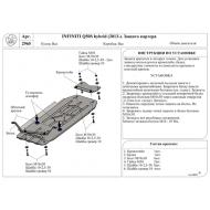 """Защита алюминиевая """"АвтоЩИТ"""" для КПП и раздатки Infiniti Q50S Hybrid 2013-2020. Артикул: 2965"""