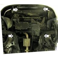 "Защита ""Motodor"" для картера, КПП Ford Escort 1995-2001. Артикул: 00740"