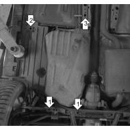 "Защита ""Motodor"" усиленная для топливного бака Ford Kuga II 2013-2020. Артикул: 00756"