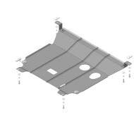 "Защита ""Motodor"" для картера, КПП Hyundai Solaris II седан 2017-2020. Артикул: 00940"