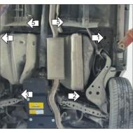 "Защита ""Motodor"" для бензобака Nissan X-Trail T31 2007-2014. Артикул: 01446"