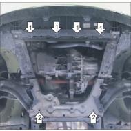 "Защита ""Motodor"" для картера, КПП Renault Kangoo II 2009-2020. Артикул: 01729"