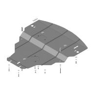 "Защита ""Motodor"" для картера двигателя Infiniti M 56S седан 2010-2014. Артикул: 08005"