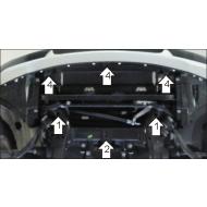 """Защита """"Motodor"""" для картера BMW Х3 E83 2004-2010. Артикул: 10201"""