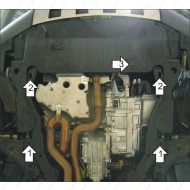 """Защита """"Motodor"""" усиленная для картера, КПП Chevrolet Captiva 2006-2011. Артикул: 13001"""