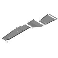 """Защита алюминиевая """"Motodor"""" для бензобака, КПП и РК Ford F-150 Super Crew 2010-2020. Артикул: 30707"""