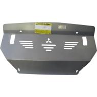 "Защита алюминиевая ""Motodor"" для интеркулера, радиатора Mitsubishi Pajero IV 2008-2020. Артикул: 31302"