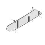 "Защита алюминиевая ""Motodor"" для топливного бака Dodge Ram IV 1500 DS 2015-2020. Артикул: 32902"