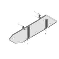 """Защита алюминиевая """"Motodor"""" усиленная для топливного бака Dodge Ram IV 2009-2020. Артикул: 32903"""