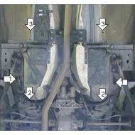 """Защита алюминиевая """"Motodor"""" для топливного бака Lаnd Rover Freelander II 2006-2014. Артикул: 33202"""