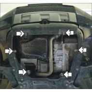"Защита алюминиевая ""Motodor"" для картера, КПП Lаnd Rover Freelander II 2006-2014. Артикул: 33203"