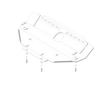 "Защита алюминиевая ""Motodor"" для pадиатора и pулевых тяг Lаnd Rover Discovery III 2004-2009. Артикул: 33217"