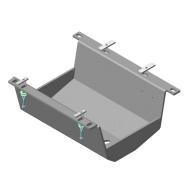 """Защита алюминиевая """"Motodor"""" для кожуха аккумулятора Lаnd Rover Range Rover IV 2013-2020. Артикул: 33218"""