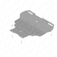 Защита АвтоСтандарт для картера и КПП Ford C-Max II 2010-2015. Артикул: 50747