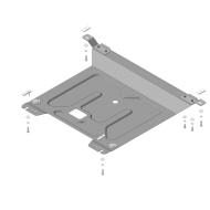 Защита АвтоСтандарт для двигателя и КПП Hyundai Solaris I седан, хэтчбек 2010-2017. Артикул: 50901
