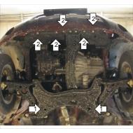 """Защита """"Motodor"""" для картера, КПП Lifan XC60 2012-2020. Артикул: 54701"""