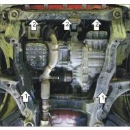 "Защита ""Motodor"" для двигателя, КПП, РК Hyundai Santa Fe I, Classic 2000-2013. Артикул: 60908"