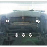 """Защита """"Motodor"""" для радиатора Kia Mohave 2008-2020. Артикул: 61004"""
