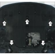 "Защита ""Motodor"" для картера двигателя, КПП Hyunda i30 II 2011-2015. Артикул: 61009"