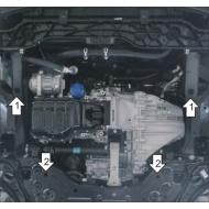 """Защита """"Motodor"""" для двигателя и КПП Kia Sportage IV 2016-2020. Артикул: 61011"""