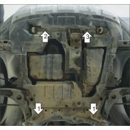 """Защита """"Motodor"""" для картера, КПП Citroen C-Crosser 2008-2013. Артикул: 61301"""